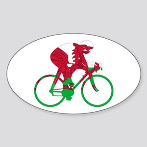 Wales Cycling Sticker (Oval)
